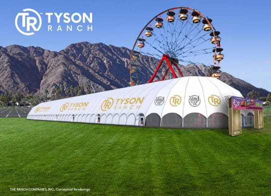 A temporary structure will be erected for the three-day event. It will reportedly be 755 feet long, 135 feet wide and 55 feet tall.