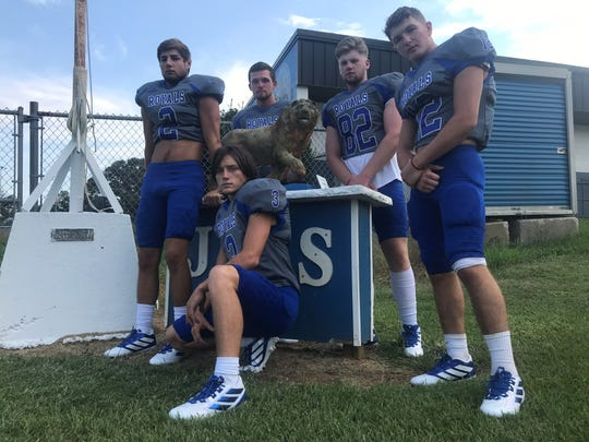 Jay seniors (L to R) Brent Eister, Devin Lambeth, Judd Smith, Tucker Mandell and Connor Roberts are eager to keep a playoff streak alilve for the Royals.