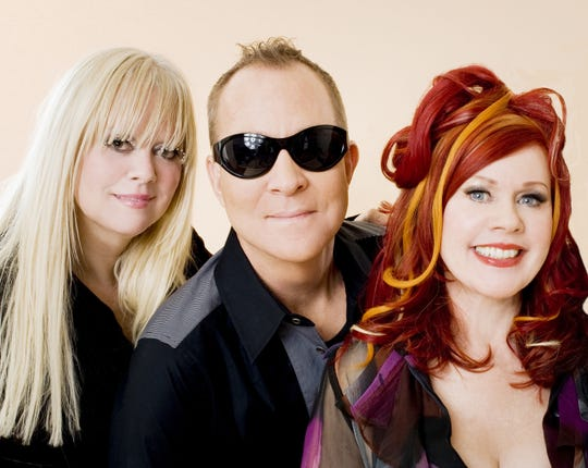 The B-52's: Cindy Wilson, Fred Schneider, Kate Pierson.