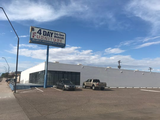 The now-closed 4-Day Furniture store is part of a county island along Scottsdale Road just north of Loop 202. XLNT Investments wants to open a medical marijuana dispensary on the site.