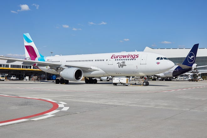 Lufthansa's Eurowings will operate am Airbus 330 between Phoenix and Frankfurt starting in April 2020.