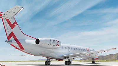 """JSX is the new name of JetSuiteX, a """"hop on jet service"""" scheduled to begin service from Sky Harbor's Swift Terminal Aug. 30."""