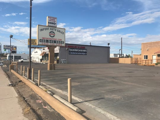 Vertigo Investments plans to open a medical marijuana dispensary on the former site of Import Auto Sales, adjacent to Elite Jewelry & Loan and Dream Palace Gentleman's Club. The land is part of a county island along Scottsdale Road just north of Loop 202.