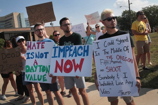 Protestan contra Trump en El Paso, Texas.