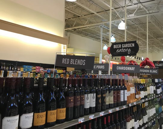 Wine is now for sale at the Bowman Street Giant in Lebanon.