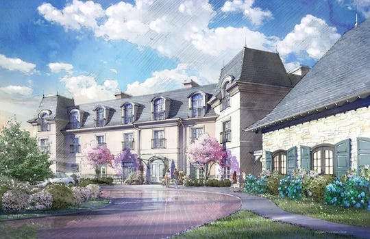 A rendering of what Mirbeau Inn & Spa Rhinebeck will look like.
