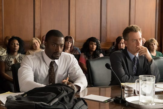 "Aldis Hodge, left, as Brian Banks and Greg Kinnear as Justin Brooks in Tom Shadyac's ""Brian Banks."" The movie is playing at Regal West Manchester and R/C Hanover Movies."