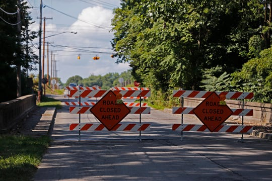 Safety concerns have resulted in the closure of the North 24th Street bridge in Richmond just south of the intersection with New Paris Pike.
