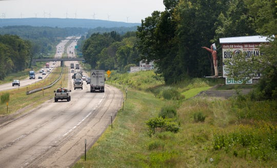 Rough roads, rusted guard rails and faded paint lines characterize the 4-mile stretch of the New York State Thruway that runs through the territory belonging to the Seneca Nation of Indians in upstate New York.