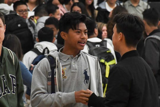 Photos from the first day of school at Rancho San Juan High on August 7, 2019.