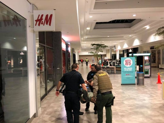 Salinas police and other emergency personnel train at Northridge Mall in 2018 to deal with an active shooter