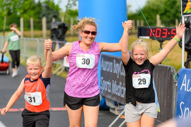 The family-friendly Acuity Health Challenge featured a 5K or 2-mile run/walk course.