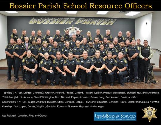 2019-2020 Bossier Parish School Resource Officers