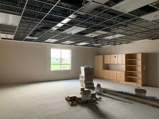 Shown is an unfinished classroom at Frontier Elementary, which is expanding in size this year with a new classroom wing. The expansion is expected to be complete this fall, but weather has been an obstacle, district officials said.