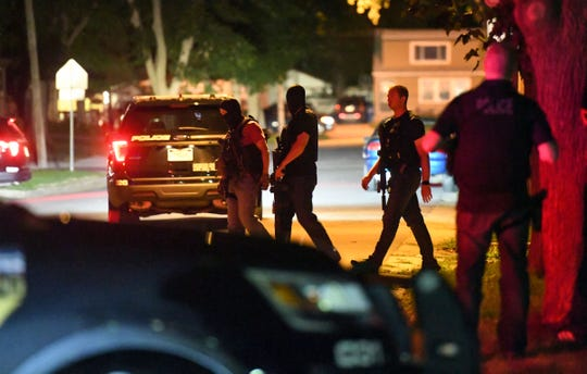 Police block off the 300 block of North Mable Ave. for a domestic call on Tuesday evening, August 6, in Sioux Falls.