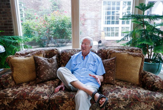 Children's author and poet David Harrison talks about his life and the books he has written during his career at his home on Wednesday, Aug. 7, 2019.