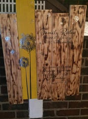 The idea behind Beautiful Fight Woodworking started with making a few bucks creating pallet signs like this.