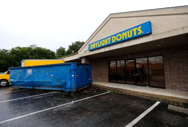 A new Romantix store is expected to open at 2734 N. Kansas Expressway on Aug. 23, 2019. Part of the space, under construction on Aug. 7, 2019, was formerly a Daylight Donuts.