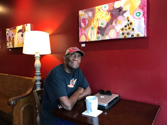 Tom Davis likes to spend his mornings at the By & By coffee shop in Staunton. On Aug. 27, 2018, he had heart transplant surgery at UVA Medical Center in Charlottesville, Virginia. Photograph taken on Tuesday, July 30, 2019.