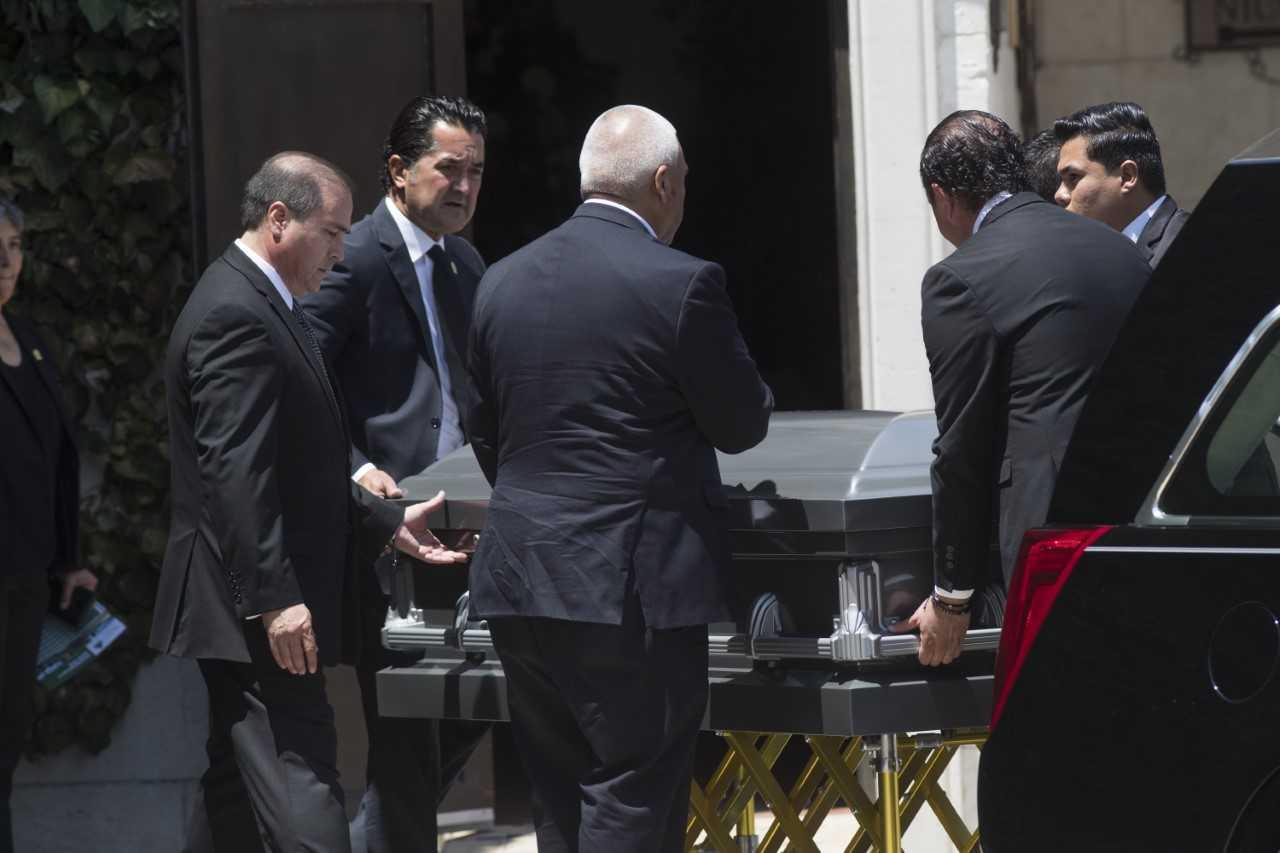 The funeral for Elsa Mendoza de la Mora, a principal of an elementary school in Juárez, was held Wednesday, Aug. 7, 2019, in Juárez.