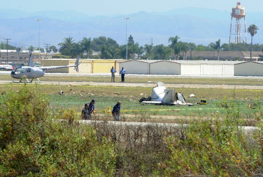 This small kit-built plane crashed Wednesday at the Camarillo Airport, leaving two people dead. The incident was reported at 1:29 p.m.