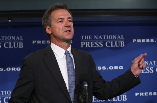 Democratic presidential candidate Gov. Steve Bullock (D-MT) speaks during a press conference August 7 in Washington, DC.