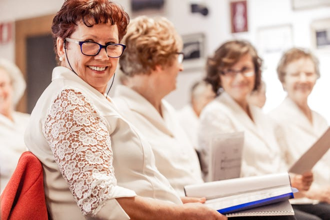 Singing in a choir is just one of many activities that can contribute to health and happiness for seniors.