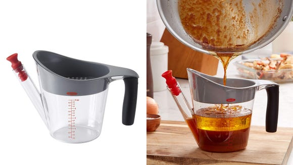 It looks gross, but we promise you'll appreciate this fat separator come the holidays.
