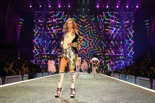 Bridget Malcolm walks the runway during the 2016 Victoria's Secret Fashion Show. The model revealed in August 2019 she suffered from anorexia, but says she's now adopted a healthier lifestyle.