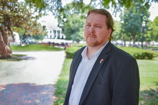 Brandon Coleman, VA whistleblower, in front of White House