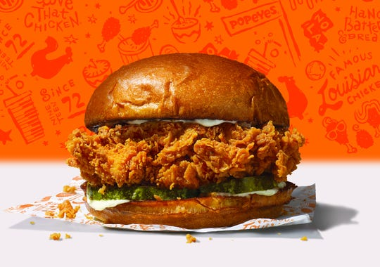 Popeye's new chicken sandwich will be available nationwide starting Aug. 12 for a suggested price of $3.99.