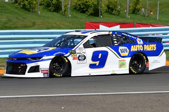 Chase Elliott drives the No. 9 Chevrolet.