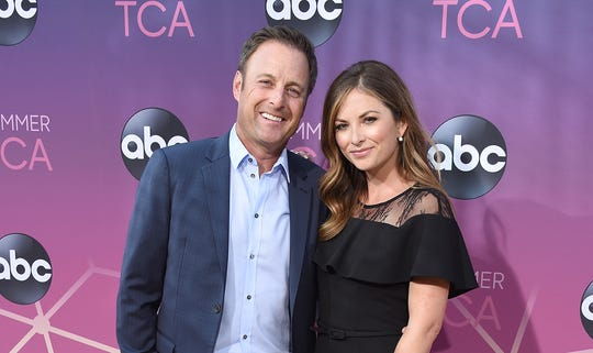 Chris Harrison and Lauren Zima arrive at ABC's TCA Summer Press Tour Carpet Event.