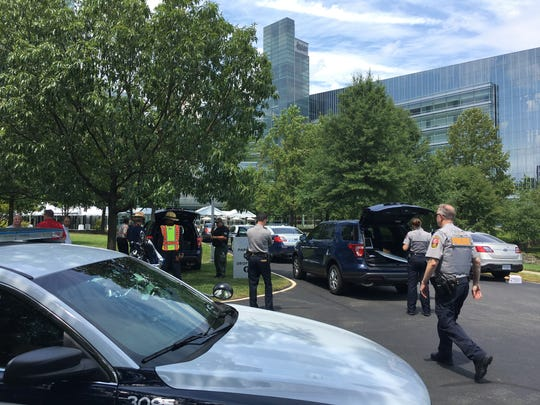 The headquarters for USA TODAY was evacuated after reports of a man with a weapon at the building in suburban Washington, D.C., on Aug. 7, 2019.