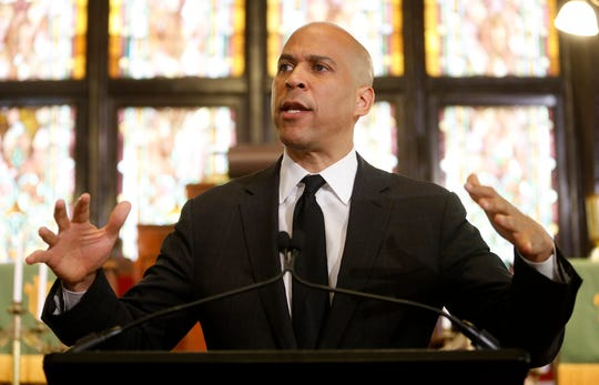 Democratic presidential candidate, Sen. Cory Booker, D-N.J., speaks about gun violence and white supremacy in the sanctuary of Mother Emanuel AME on Wednesday, Aug. 7 in Charleston, S.C.
