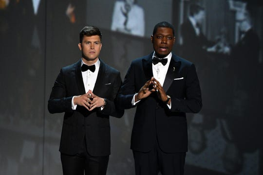 Colin Jost and Michael Che hosted the 2018 Primetime Emmy Awards on NBC, but Fox will go hostless this year.