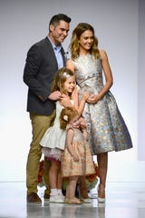 Jessica Alba and Cash Warren with two of their three children -- Honor  and Haven -- on May 9, 2014 in Beverly Hills.