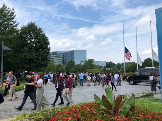USA TODAY's headquarters was evacuated on Wednesday.