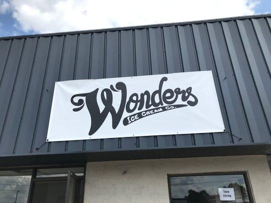 Wonders Ice Cream Co. sign on Meade Street in Appleton.