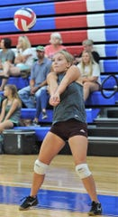 Hawley's Autumn Knight gets ready to receive a hit in a scrimmage against Clyde on Monday, Aug. 5, 2019, at Cooper High School in Abilene.