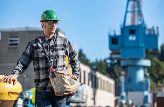 Frank Ranuio is among 580 people who work in the Puget Sound Naval Shipyard's shop 71. The shop paints, blasts and lays tile on the Navy's aircraft carriers, submarines and other vessels.