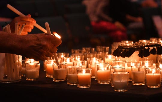 Pray for El Paso and Dayton, a Service of Prayer & Action, was held Wednesday evening at Suntree United Methodist Church. The service to mourn mass shooting victims concluded with a call to action to write letters to Representatives asking for universal background checks, mental health advocacy,  so called red flag laws, and any other gun related issues.