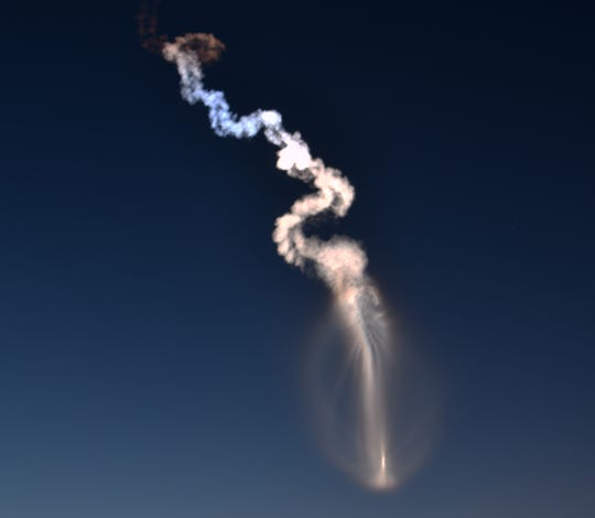 A United Launch Alliance Atlas V rocket lifts off from Cape Canaveral Air Force Station early Thursday morning, Aug. 8, 2019. The rocket is carrying the AEHF 5 communications satellite for the U.S. military.
