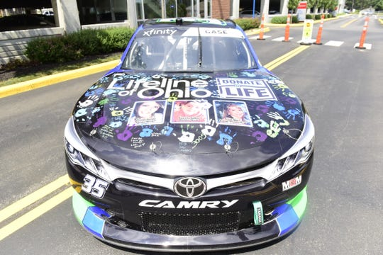 Joey Gase will honor those who have lost their lives, yet donated their organs to save the lives of others during his NASCAR Xfinity Series race Saturday at the Mid-Ohio Sports Car Course.
