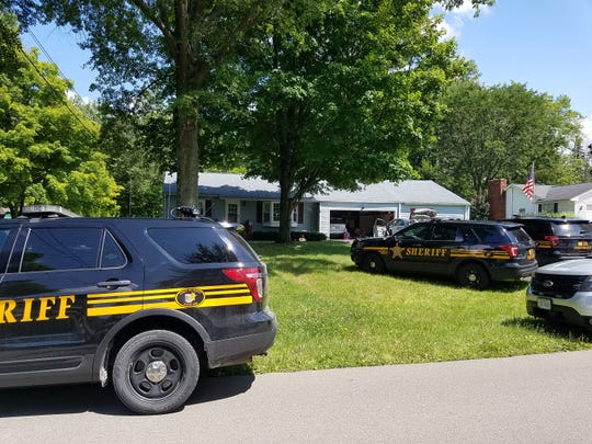 Authorities served a search warrant Wednesday at a residence on Chiswick Place. Suspected heroin and cocaine were seized, and three people were arrested.