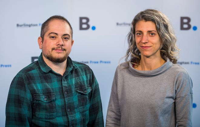 From left, Burlington Free Press Digital Innovation Editor Isaac Fornarola and Executive Editor Emilie Stigliani.
