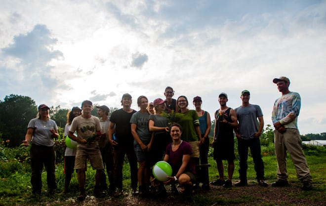 Teams of farmers from all over the state gathered at the Intervale in Burlington August 6, 2019 for the 5th annual Farmer Olympics