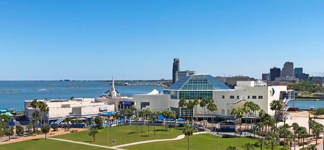 A view of the Texas State Aquarium in Corpus Christi.