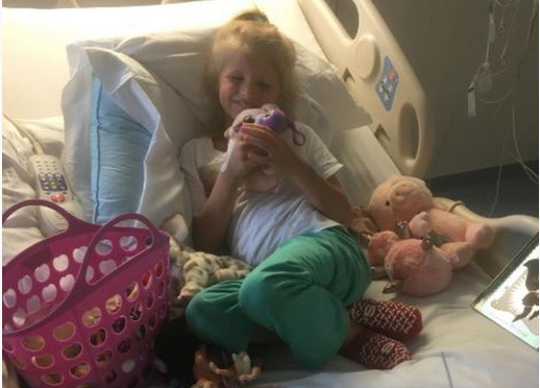 Averey, 5, began recovering when the ticks were removed