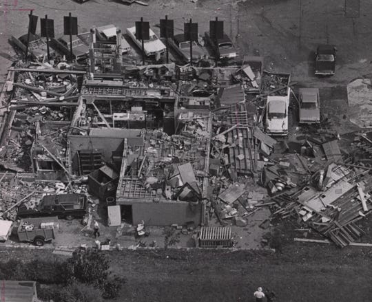 McIntosh restaurant on Galbraith Road was destroyed by the tornado on Aug. 9, 1969.
